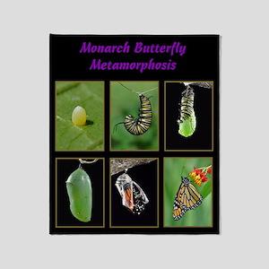 Monarch Metamorphosis Throw Blanket
