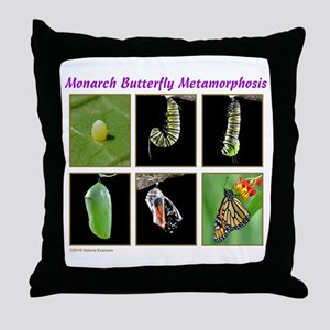 Monarch Metamorphosis Throw Pillow