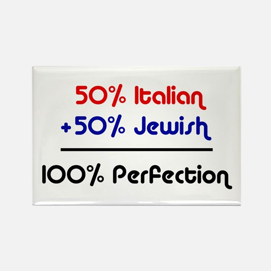 50% Jewish + 50% Italian = 10 Rectangle Magnet