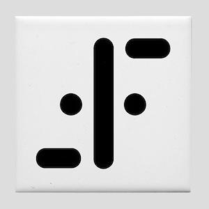 V Symbol Visitors TV Tile Coaster