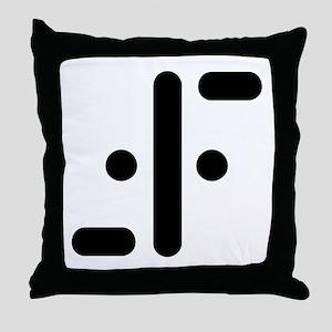 V Symbol Visitors TV Throw Pillow