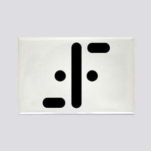 V Symbol Visitors TV Rectangle Magnet