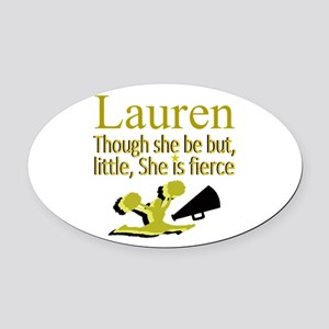 CHEER GIRL Oval Car Magnet