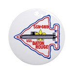 USS BATON ROUGE Round Ornament