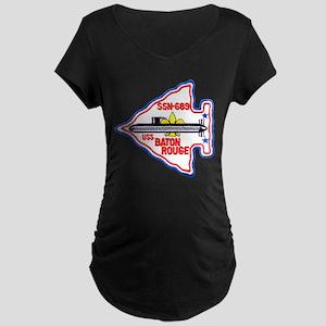 USS BATON ROUGE Maternity Dark T-Shirt