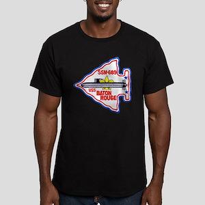 USS BATON ROUGE Men's Fitted T-Shirt (dark)