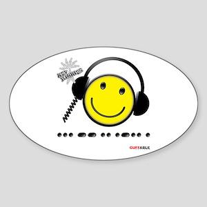 Morse Code - Smile Sticker (Oval)