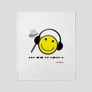 Morse Code - Smile Throw Blanket