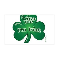St Patrick's Day - Kiss Me 38.5 x 24.5 Wall Peel