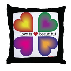 LOVE IS BEAUTIFUL Throw Pillow