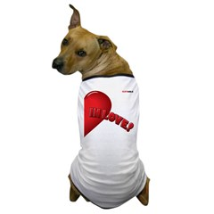 LEFT SIDE - valentine's day h Dog T-Shirt
