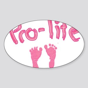 Pro Life _1 Sticker (Oval)