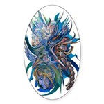 Mythological Warriors Sticker (Oval)