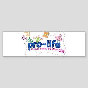 Pro-Life Flowers & Butterfly Sticker (Bumper)
