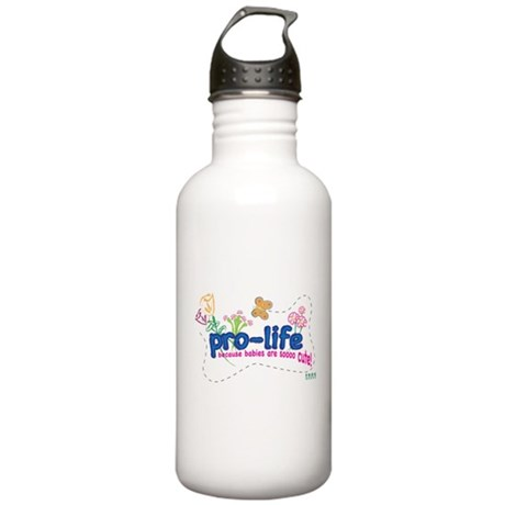 Pro-Life Flowers & Butterfly Stainless Water Bottl