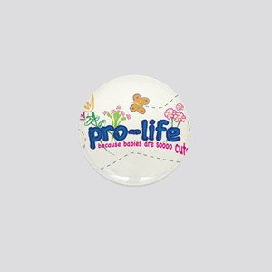 Pro-Life Flowers & Butterfly Mini Button