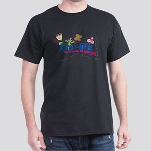 Pro-Life Flowers & Butterfly Dark T-Shirt