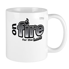On Fire for the Lord 2 black Mug