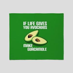 Avocado Humor Throw Blanket