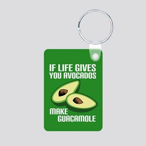 Avocado Humor Aluminum Photo Keychain