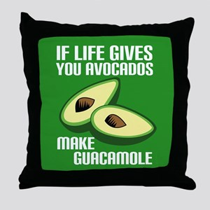 Avocado Humor Throw Pillow