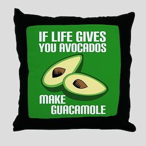 Avocado Humor Throw Pillow