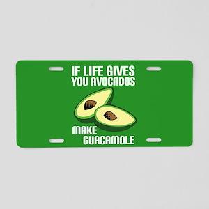 Avocado Humor Aluminum License Plate