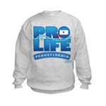 Pro-Life, from conception to Kids Sweatshirt