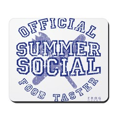 OFFICIAL SUMMER SOCIAL FOOD T Mousepad