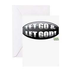 Let Go B/W Greeting Card