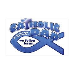 Catholic Dad 38.5 x 24.5 Wall Peel