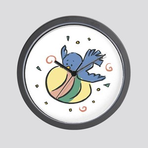 Blue Bird with Easter Egg Wall Clock