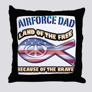 Airforce Dad Throw Pillow