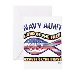 Navy Aunt Greeting Card