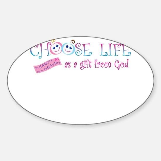 Choose Life Sticker (Oval)