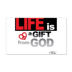 Life... GIFT from GOD 22x14 Wall Peel