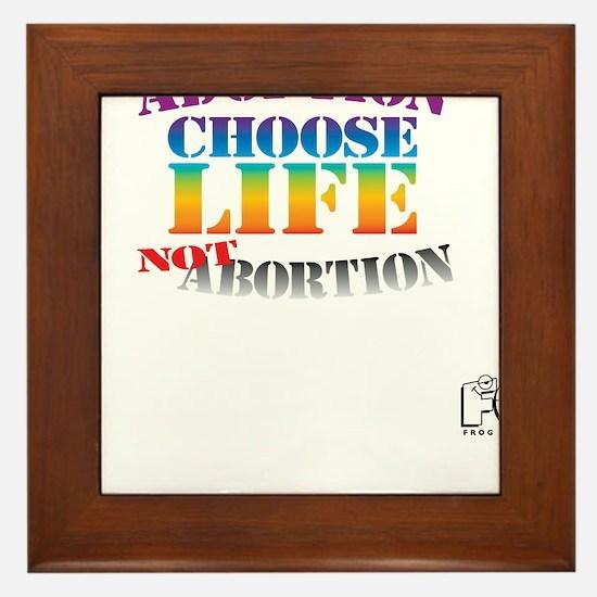 Adoption/No Abortion Framed Tile