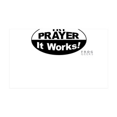 Try Prayer... It Works! 38.5 x 24.5 Wall Peel