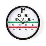 FROG eyechart Wall Clock