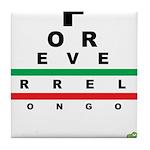 FROG eyechart Tile Coaster