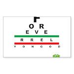 FROG eyechart Sticker (Rectangle 50 pk)