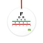 FROG eyechart Ornament (Round)