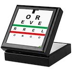 FROG eyechart Keepsake Box