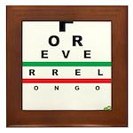 FROG eyechart Framed Tile