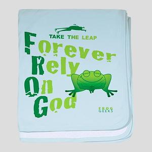 FROG = Forever Rely On God baby blanket