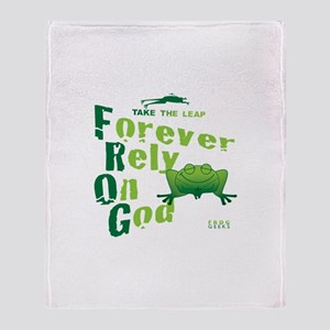 FROG = Forever Rely On God Throw Blanket