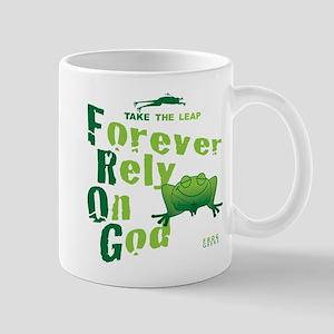 FROG = Forever Rely On God Mug