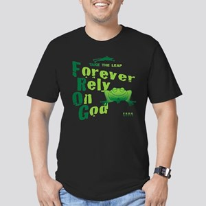 FROG = Forever Rely On God Men's Fitted T-Shirt (d
