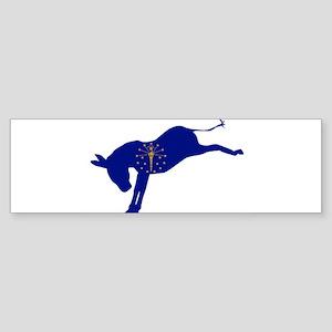 Indiana Democrat Donkey Flag Bumper Sticker