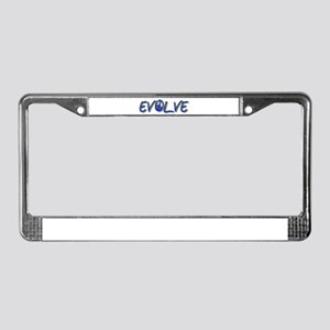 Evolve (with peace sign) License Plate Frame